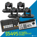 4 Ultimate PTZ Camera Broadcast Package - Basic - $5495 - Mixer and Controller Included