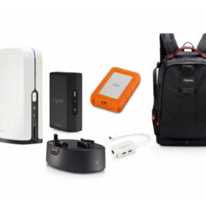 SLINGSTUDIO HUB PLUS CAMERA LINK, BATTERY, USB-C ADAPTER, BACKPACK AND LACIE USBC RUGGED 1 TB