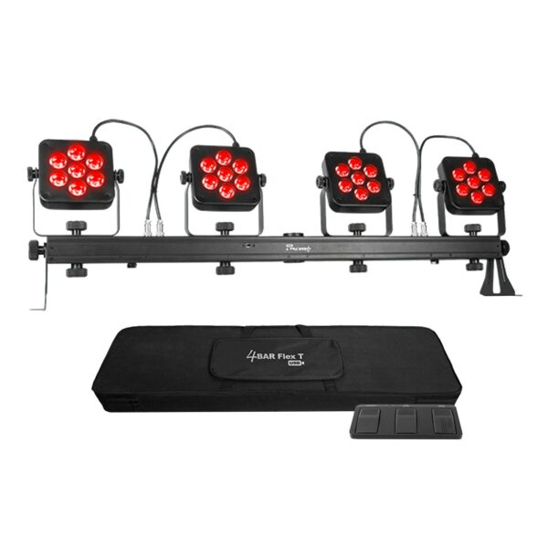 Chauvet DJ 4Bar Flex T USB LED RGB DMX Light Effect System w Footswitch & Case