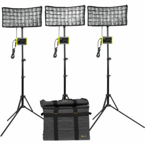 ikan CB8-3PT-KIT Light Kit with 3 x Canvas Bendable Bi-Color LED Panel Lights