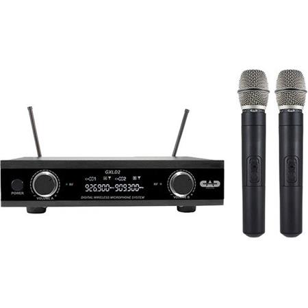 CAD Audio GXLD2HHAH Digital Wireless Dual Handheld Microphone System w/ D38 Capsule AH Frequency Band 902.9 - 915.5 MHz