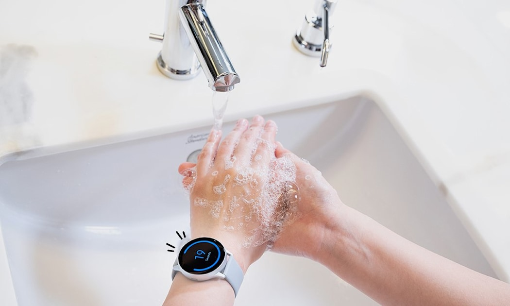 Samsung made a hand washing app for Galaxy Watch owners
