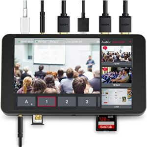 YoloLiv YoloBox Smart Multi-Camera Live Streaming Studio, Encoder Switcher Recorder Monitor All in One -$1099