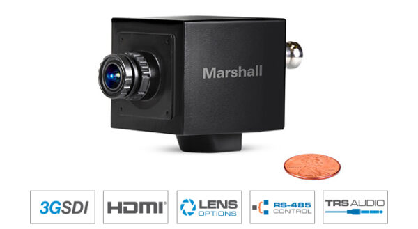 Marshall CV565-MGB MINI Genlock Broadcast Camera for video capture 2.5MP with Tri-Level Sync 1080p
