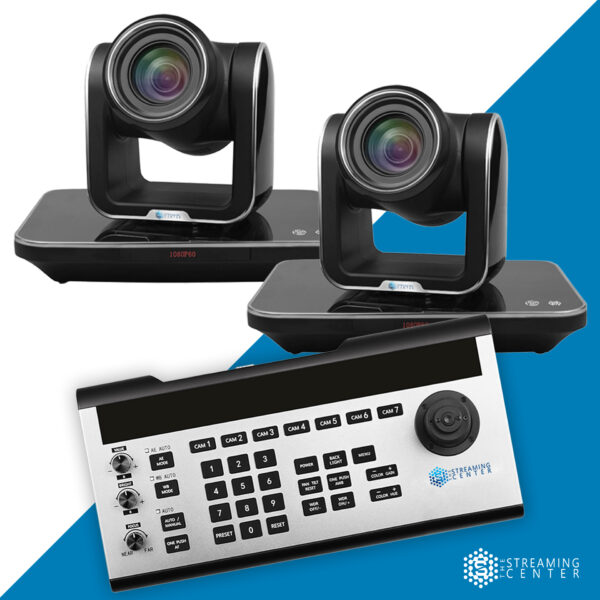 2 Camera Ultimate PTZ Bundle w/ Controller and Mixer