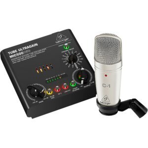 $128.99 - Behringer VOICE STUDIO Complete Recording Bundle with Condenser Mic/Tube Preamplifier w/ 16 Voices & USB/Audio Interface